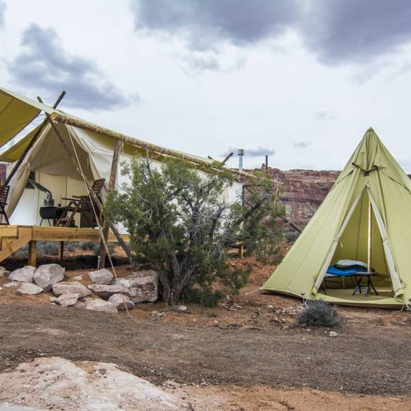 Under Canvas Moab - deluxe tent tipi