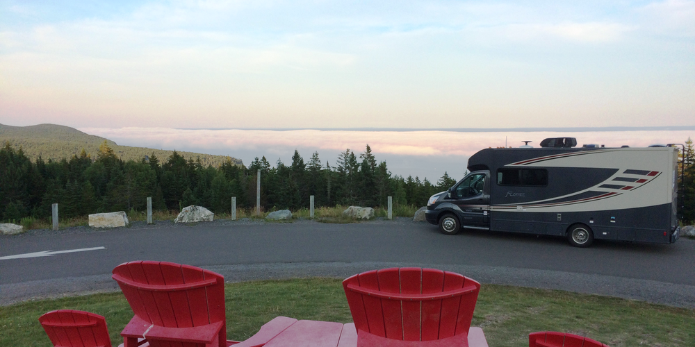 Met de camper op pad in Fundy National Park