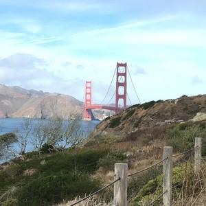 fietsen over de Golden Gate brug naar Sausolito - Dag 18 - Foto