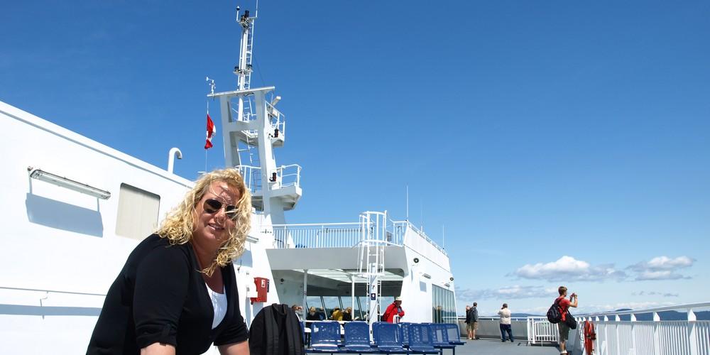 Aan boord van BC Ferries in Canada