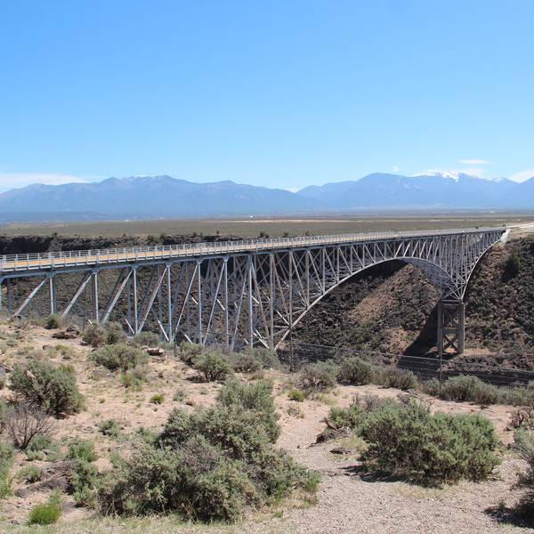 Rio Grande - Gorge Bridge - Taos - New Mexico - Amerika - Doets Reizen