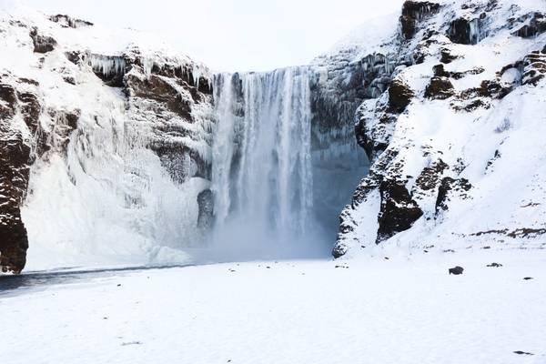 Skógafoss IJsland - Winter IJsland - Doets Reizen