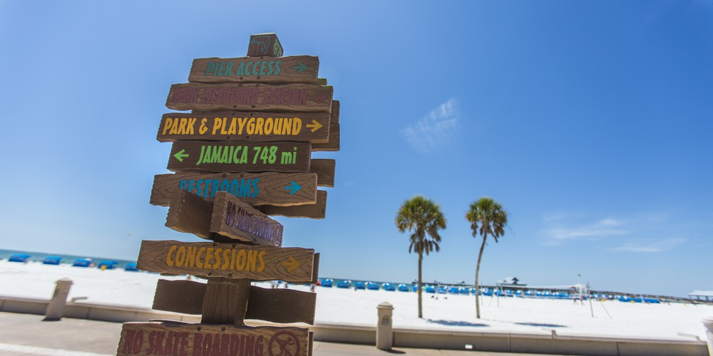 Borden op Clearwater Beach