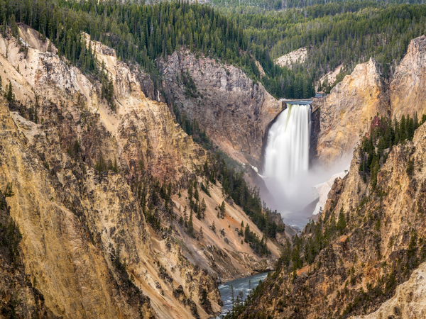 Artist Point - Yellowstone National Park - Wyoming - Doets Reizen