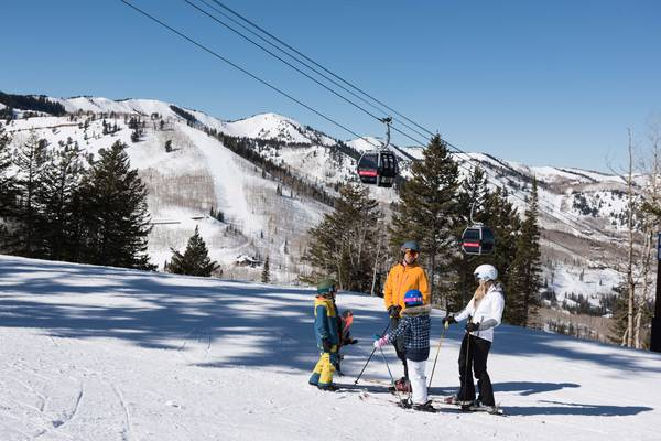 Wintersport Park City Utah USA