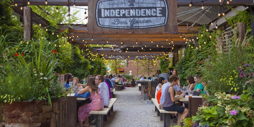 Independence Beer Garden - Philadelphia - Pennsylvania - Amerika - Doets Reizen