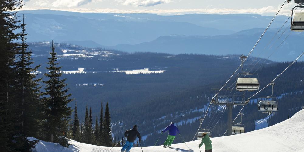 Wintersport Sun Peaks Canada