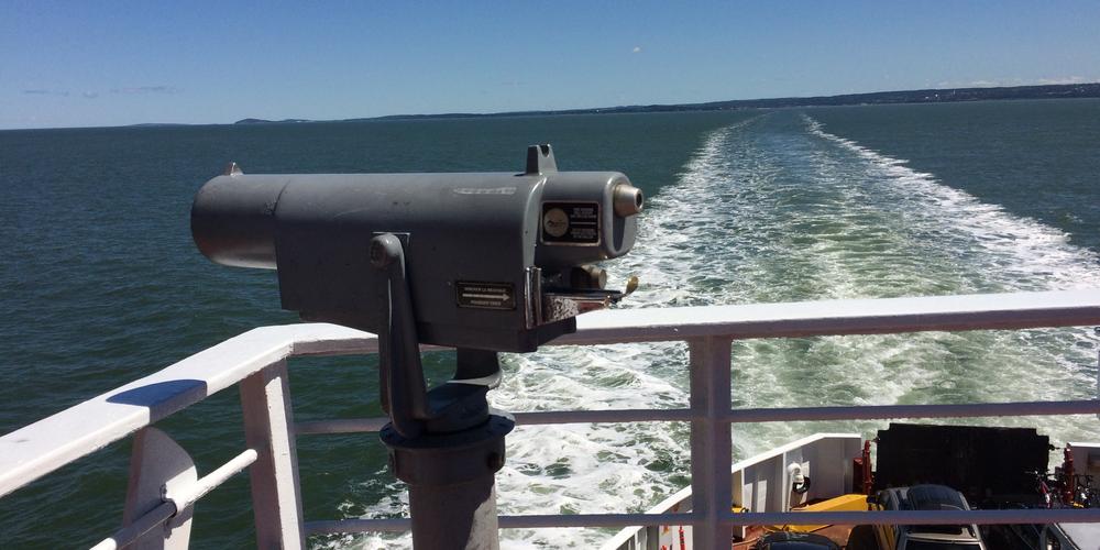 Aan boord van de ferry vanuit Rivière-du-Loup
