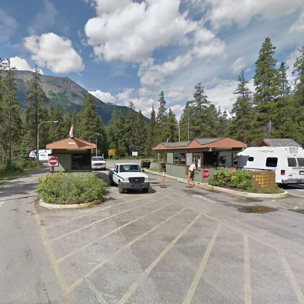 Whistlers Campground, ingang