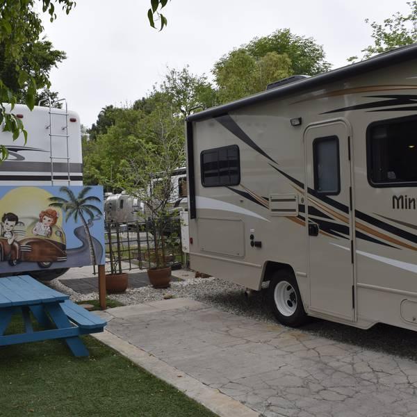 Hollywood RV Park, voorbeeld van een camperplaats