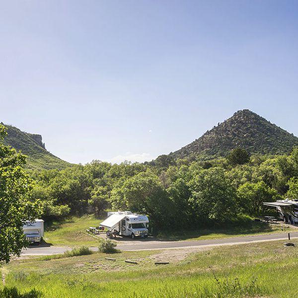Morefield Campground, campsite