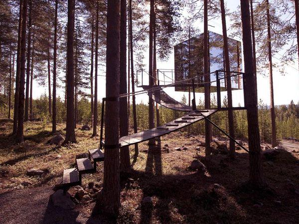 Mirror Cube Treehotel - Doets Reizen - Vakantie Zweden - Credit Treehotel