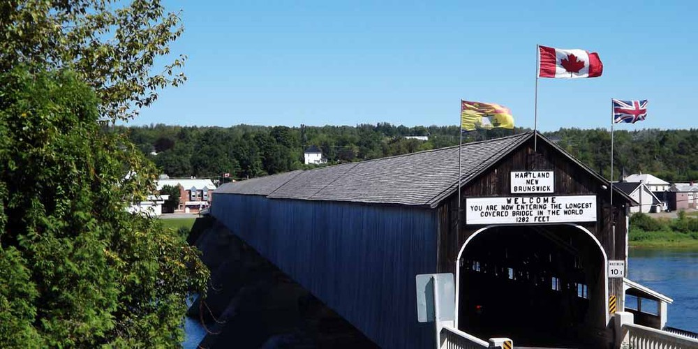 Covered Bridge - Hartland - New Brunswick - Canada - Doets Reizen