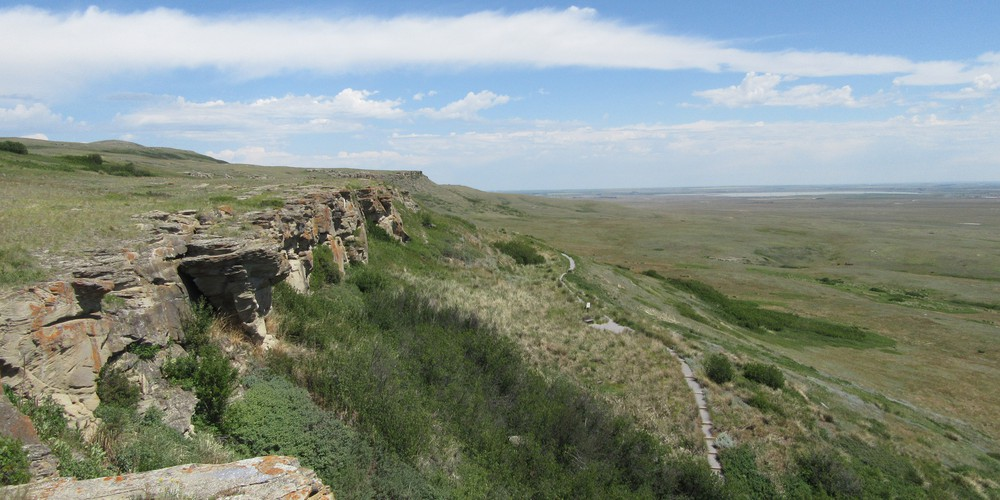 Head-Smashed-In Buffalo Jump Fort - Alberta - Canada - Doets Reizen