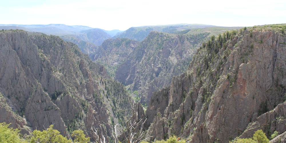 Uitzicht in Black Canyon of the Gunnison National Park