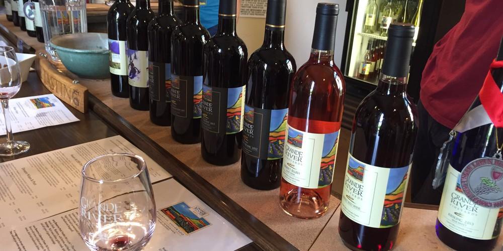 Wijnproeven in Grand Junction Colorado.