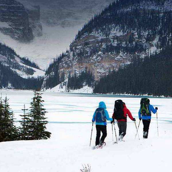 Wintersport - Snowshoeing - Lake Louise -  Alberta - Canada - Doets Reizen