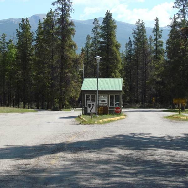 Wapiti Campground, toegang tot de camping