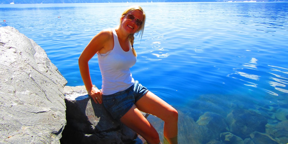 Crater Lake National Park Oregon.