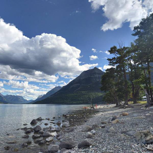 Townsite Campground, oever van Upper Waterton Lake
