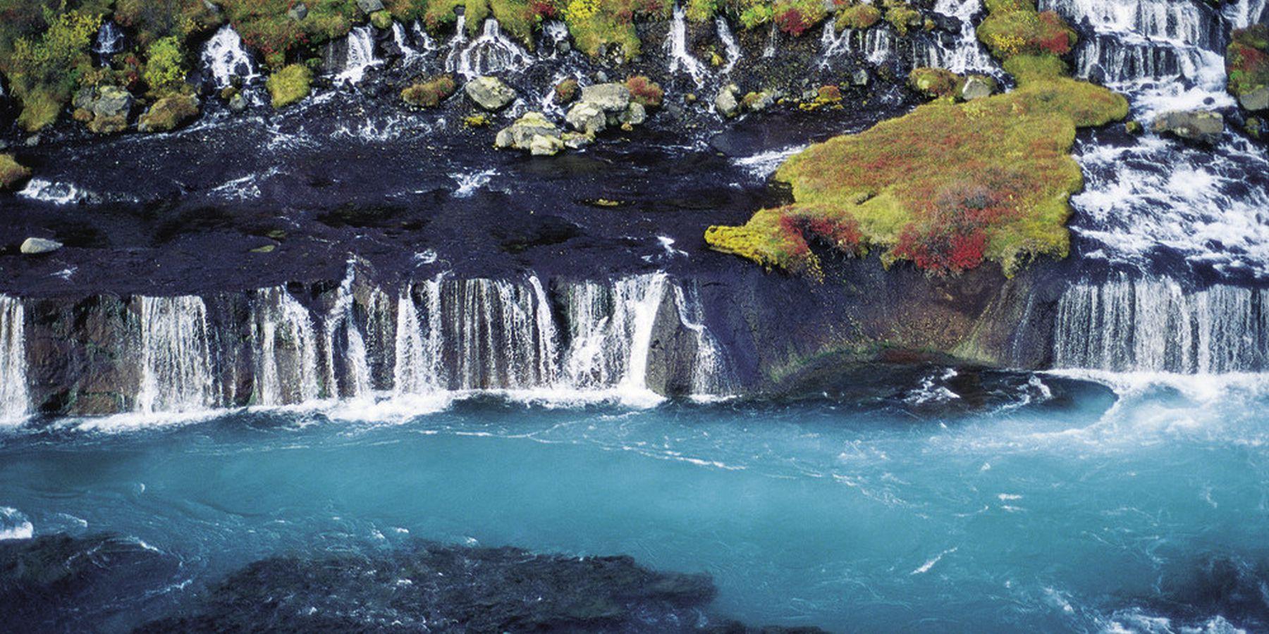 Hraunfossar Waterval - IJsland - Doets Reizen