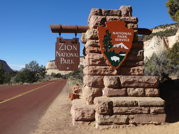 Entree Zion National Park Utah.