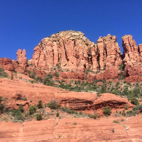 Rode rotsen in Sedona, Arizona