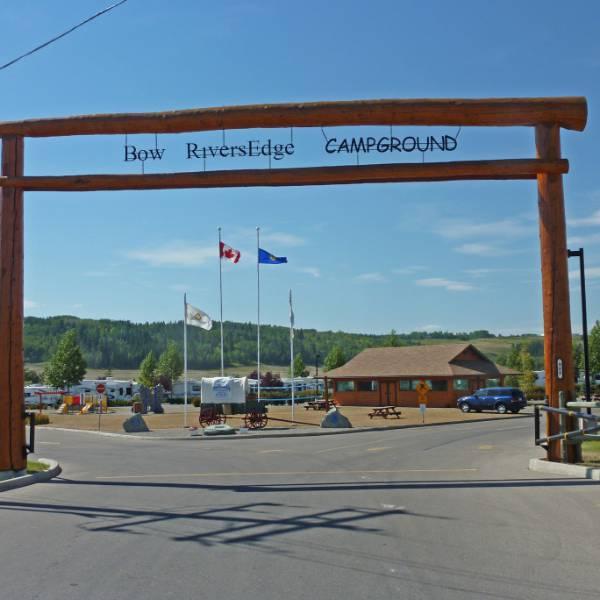 Bow RiversEdge Campground - Ingang