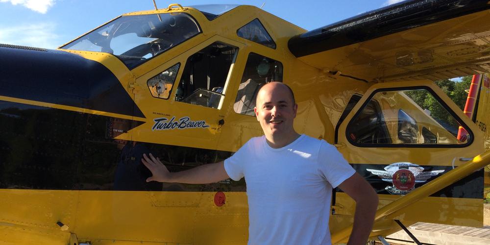 Bij het watervliegtuig in Algonquin Provincial Park