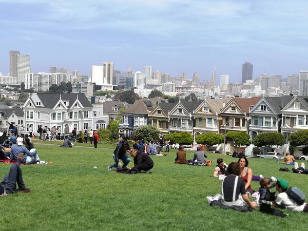 Alamo Square Park - San Francisco - California - Amerika - Doets Reizen