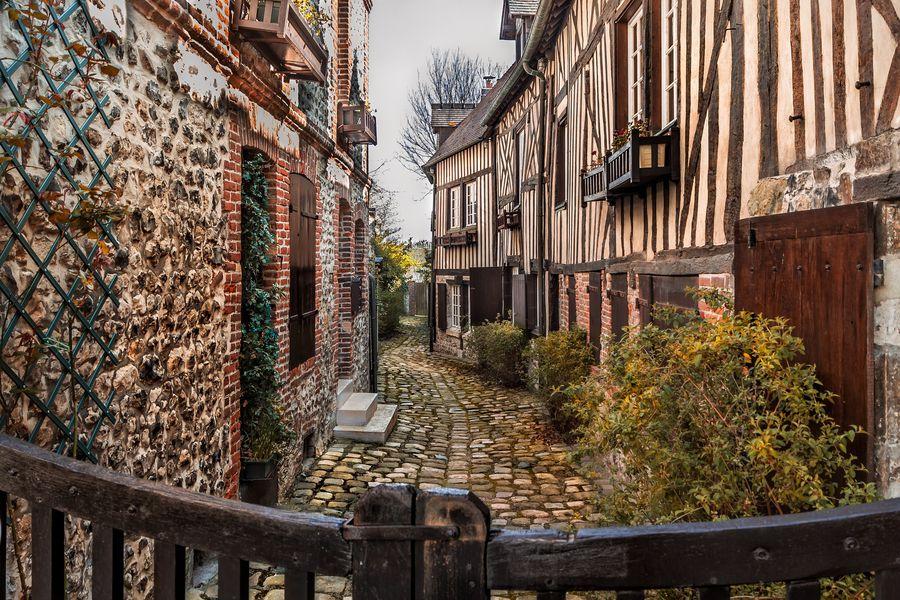 Honfleur straatjes | Atout France | Doets Reizen | Frankrijk | Normandie