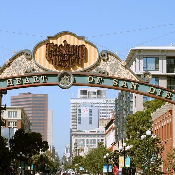 Gaslamp Quarter - San Diego - California - Amerika - Doets Reizen