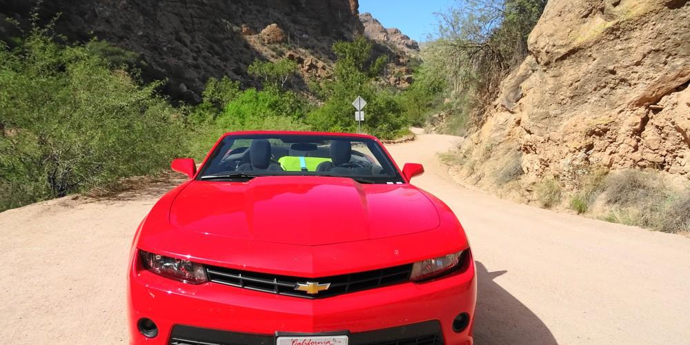 Apache Trail gelegen tussen Phoenix en Sedona, een 22 mile onverharde handelsroute van de Apache Indianen