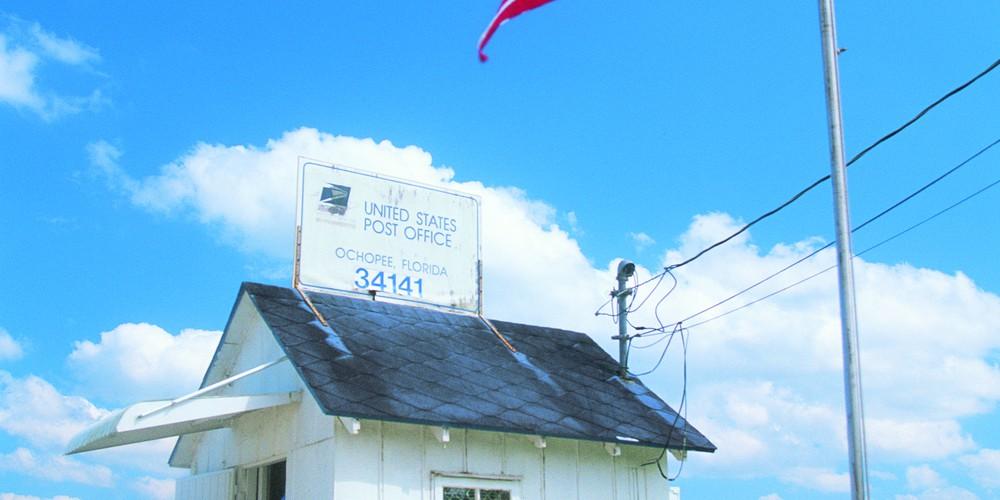 Kleinste postkantoor Everglades NP Florida
