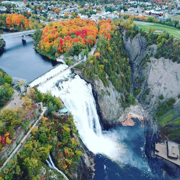 Indian Summer - Montmorency Falls - Quebec City - Quebec - Canada - Doets Reizen