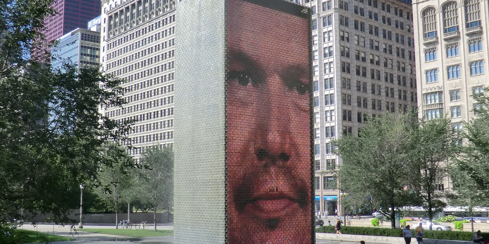 Crown Fountain - Chicago - Illinois - Doets Reizen