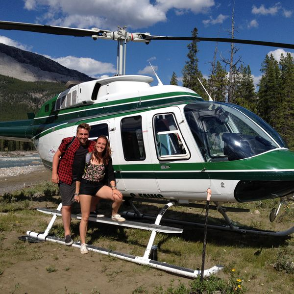Icefields Parkway Helikoptervlucht + Wandeling