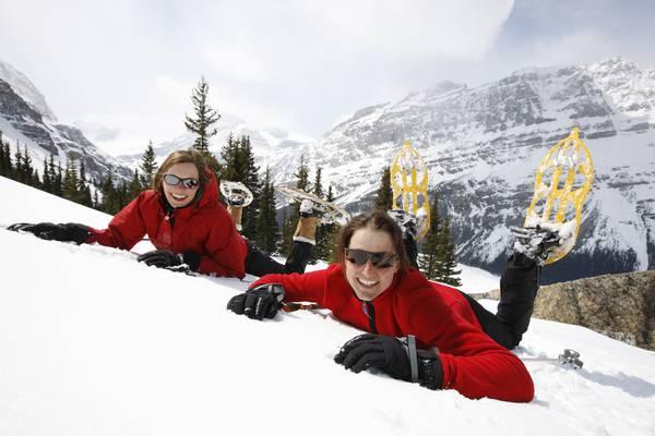 Wintersport - Snowshoeing - Banff -  Alberta - Canada - Doets Reizen