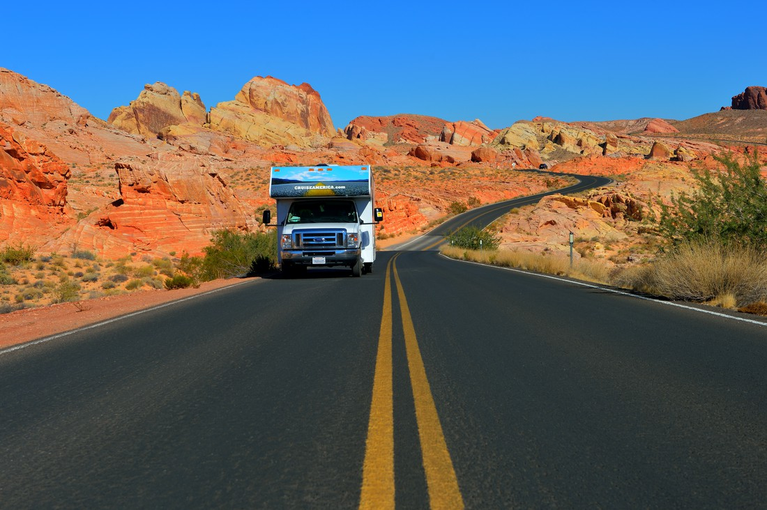 Cruise America camper in Valley of Fire