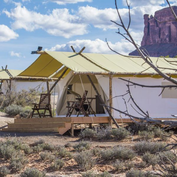 Under Canvas Moab - deluxe tent