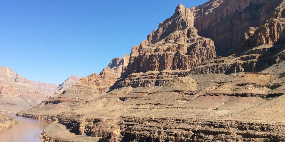 Grand Celebration Heli vlucht vanaf Las Vegas bodem Grand Canyon West
