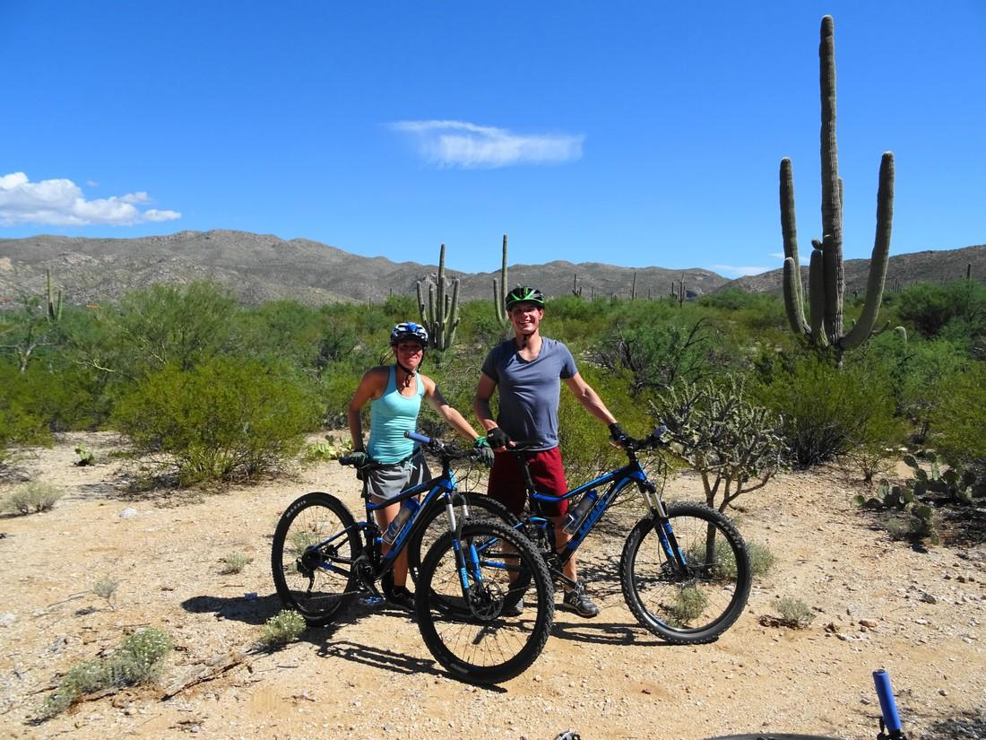 Mountainbiken in Tucson, Arizona