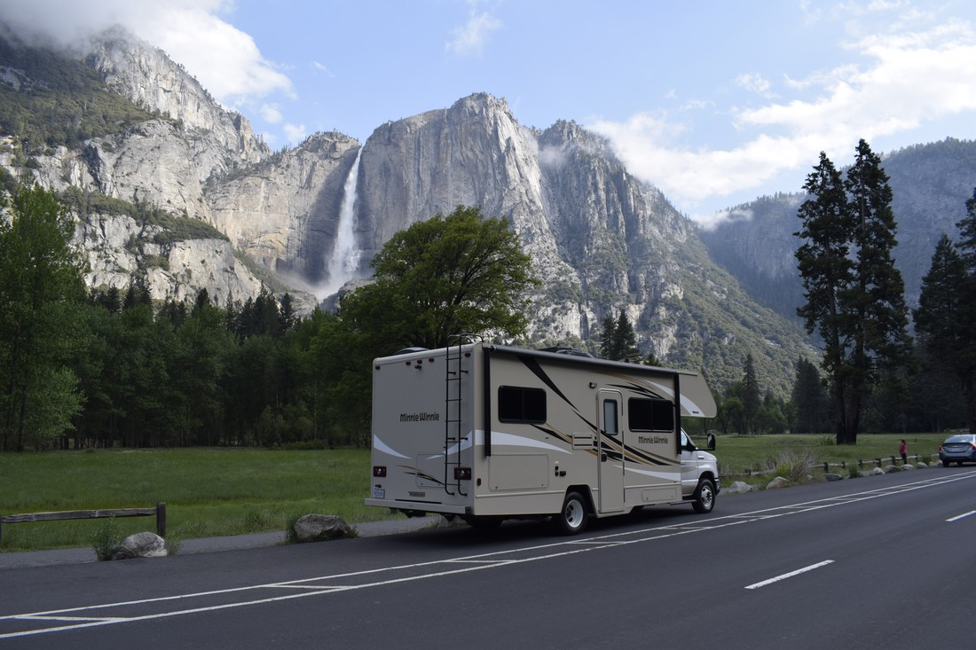 Met de camper in Yosemite National Park