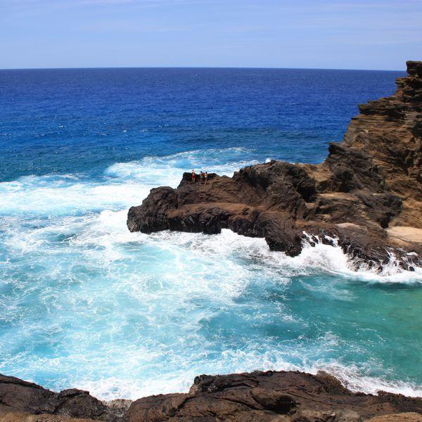 prachtige kustlijn van Oahu een van de eilanden van Hawaii
