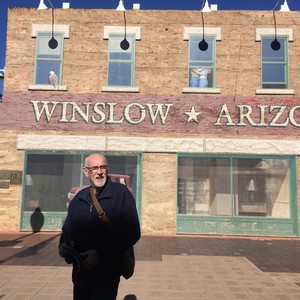 Van Holbrook  Arizona naar Kingman Arizona . Sneeuw in Flagstaff. - Dag 11 - Foto