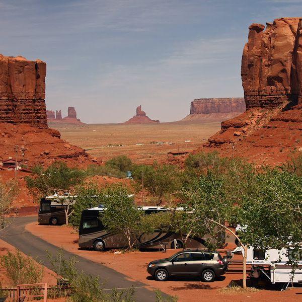 Goulding's Campground - Prachtige doorkijk