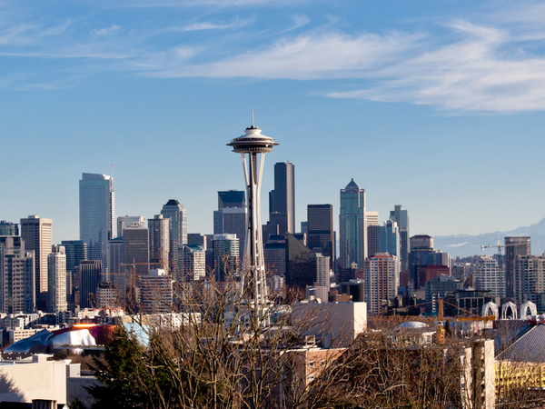 De skyline van Seattle