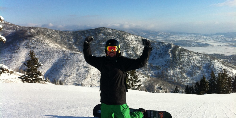 Wintersport Canyons Ski Resort Utah USA