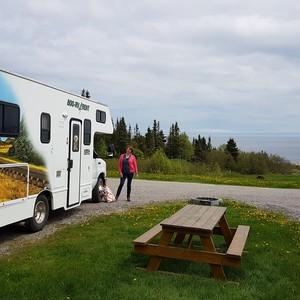 Reisdag naar camping Paradis-Marin in Les Bergeronnes. - Dag 18 - Foto