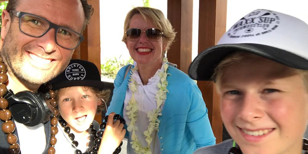 Elske met gezin in Maui